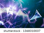 abstract blue background.... | Shutterstock . vector #1368310037