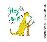 cute dinosaur color hand drawn...   Shutterstock .eps vector #1368335087