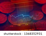 financial data on a monitor.... | Shutterstock . vector #1368352931