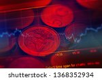 financial data on a monitor.... | Shutterstock . vector #1368352934