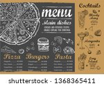 restaurant cafe menu  template... | Shutterstock .eps vector #1368365411