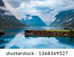 beautiful nature norway natural ... | Shutterstock . vector #1368369527