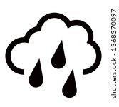 hard rain icon in trendy flat... | Shutterstock .eps vector #1368370097