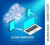 isometric cloud technology... | Shutterstock .eps vector #1368372107