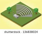 isometric amphitheater | Shutterstock .eps vector #136838024