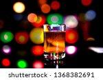 isolated shot of whiskey on... | Shutterstock . vector #1368382691