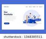 web design landing page...   Shutterstock .eps vector #1368385511