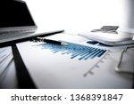 close up.desk of a businessman. ... | Shutterstock . vector #1368391847