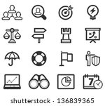 Bussiness Strategy Icon Set