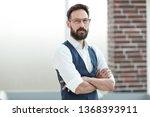 confident businessman standing... | Shutterstock . vector #1368393911