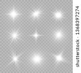 white glowing light explodes on ... | Shutterstock .eps vector #1368397274