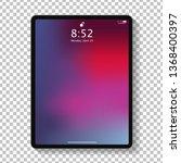 realistic tablet computer lock... | Shutterstock .eps vector #1368400397