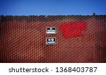 no trespassing sign on urban... | Shutterstock . vector #1368403787