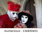 venice   february 8  person in... | Shutterstock . vector #136840601