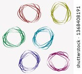 hand drawn colored shapes on... | Shutterstock .eps vector #1368408191