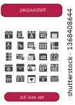 organizer icon set. 25 filled... | Shutterstock .eps vector #1368408644