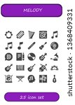 melody icon set. 25 filled... | Shutterstock .eps vector #1368409331
