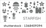 starfish icon set. 11 filled... | Shutterstock .eps vector #1368409394