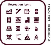 recreation icon set. 16 filled...   Shutterstock .eps vector #1368409661