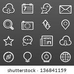 social media icon set | Shutterstock .eps vector #136841159