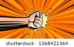 Fist. Pop Art Retro Comic Styl...