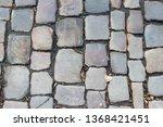 an old stoneblock pavement...   Shutterstock . vector #1368421451