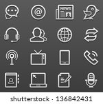 communication   media icon set | Shutterstock .eps vector #136842431