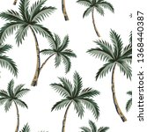 tropical palm trees  white... | Shutterstock .eps vector #1368440387