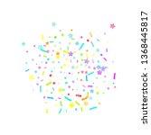 sprinkles grainy. cupcake... | Shutterstock .eps vector #1368445817