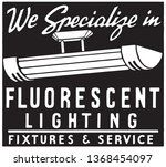 fluorescent lighting   retro ad ... | Shutterstock .eps vector #1368454097