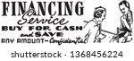 financing service   retro ad... | Shutterstock .eps vector #1368456224