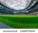 Small photo of London, UK - April 13 2019: panoramic view stadium during the Premier League between Tottenham Hotspur and Huddersfield Town at Tottenham Hotspur Stadium