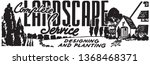 complete landscape service  ... | Shutterstock .eps vector #1368468371