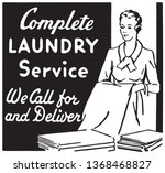 complete laundry service   ... | Shutterstock .eps vector #1368468827