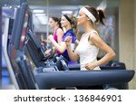 group of young people running... | Shutterstock . vector #136846901