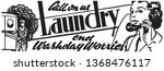 call on us laundry   retro ad... | Shutterstock .eps vector #1368476117