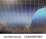 close up.financial chart in the ... | Shutterstock . vector #1368480584