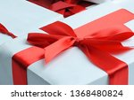 elegant gift boxes with red... | Shutterstock . vector #1368480824