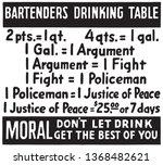 bartenders drinking table  ... | Shutterstock .eps vector #1368482621