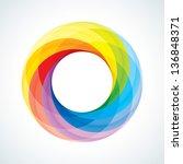 abstract infinite loop sign... | Shutterstock .eps vector #136848371