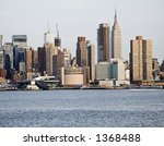 A close-up of the changing New York City skyline. - stock photo