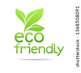 eco friendly environment design | Shutterstock .eps vector #1368508091