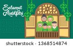 hari raya aidilfitri is an... | Shutterstock .eps vector #1368514874