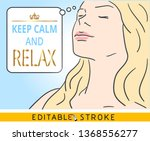 keep calm and relax. a... | Shutterstock .eps vector #1368556277