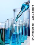 laboratory pipette with drop of ... | Shutterstock . vector #136855895