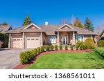 beautiful exterior of newly... | Shutterstock . vector #1368561011