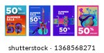 vector summer sale 50  discount ... | Shutterstock .eps vector #1368568271