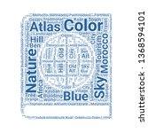 atlas word cloud. tag cloud...   Shutterstock .eps vector #1368594101