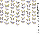 pink butterfly cicadas sketch ... | Shutterstock .eps vector #1368607691