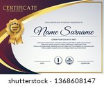 beautiful certificate template... | Shutterstock .eps vector #1368608147
